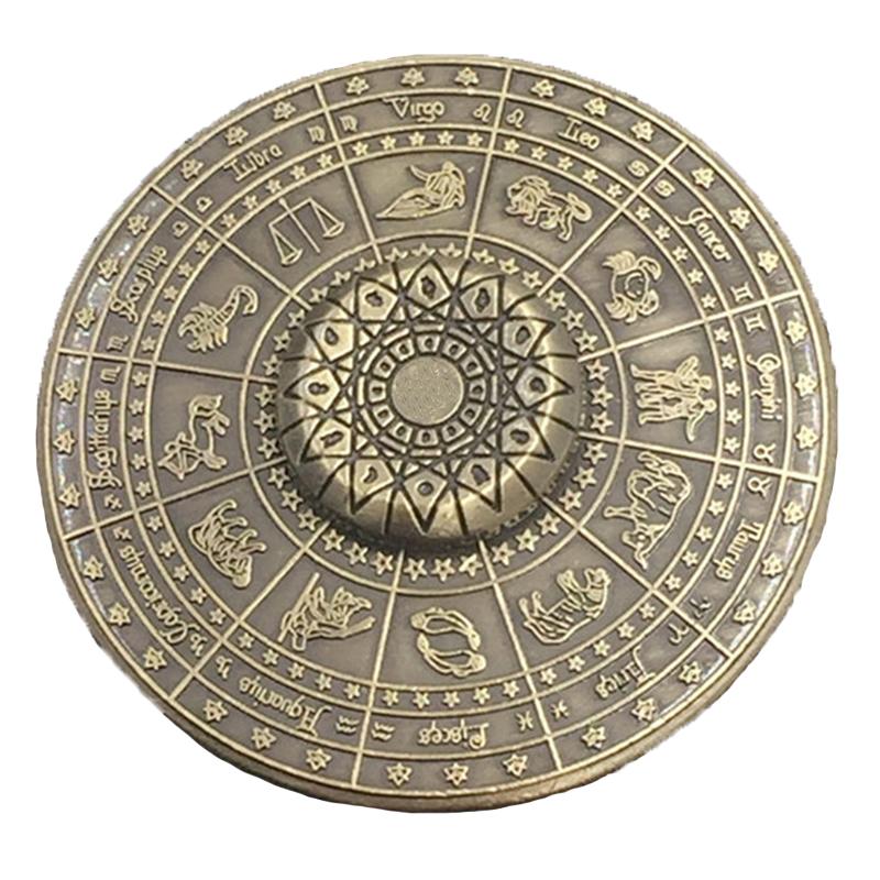 Twelve Zodiac Constellations Zinc Alloy Stainless Steel Fidget Hand Spinner