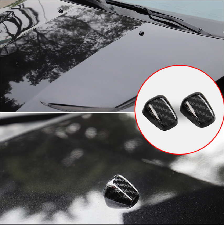 FMtoppeak Exterior Accessories Front Windshield Washer Wiper Spray Nozzle Trim Cover for Jeep Grand Cherokee 2011 Up