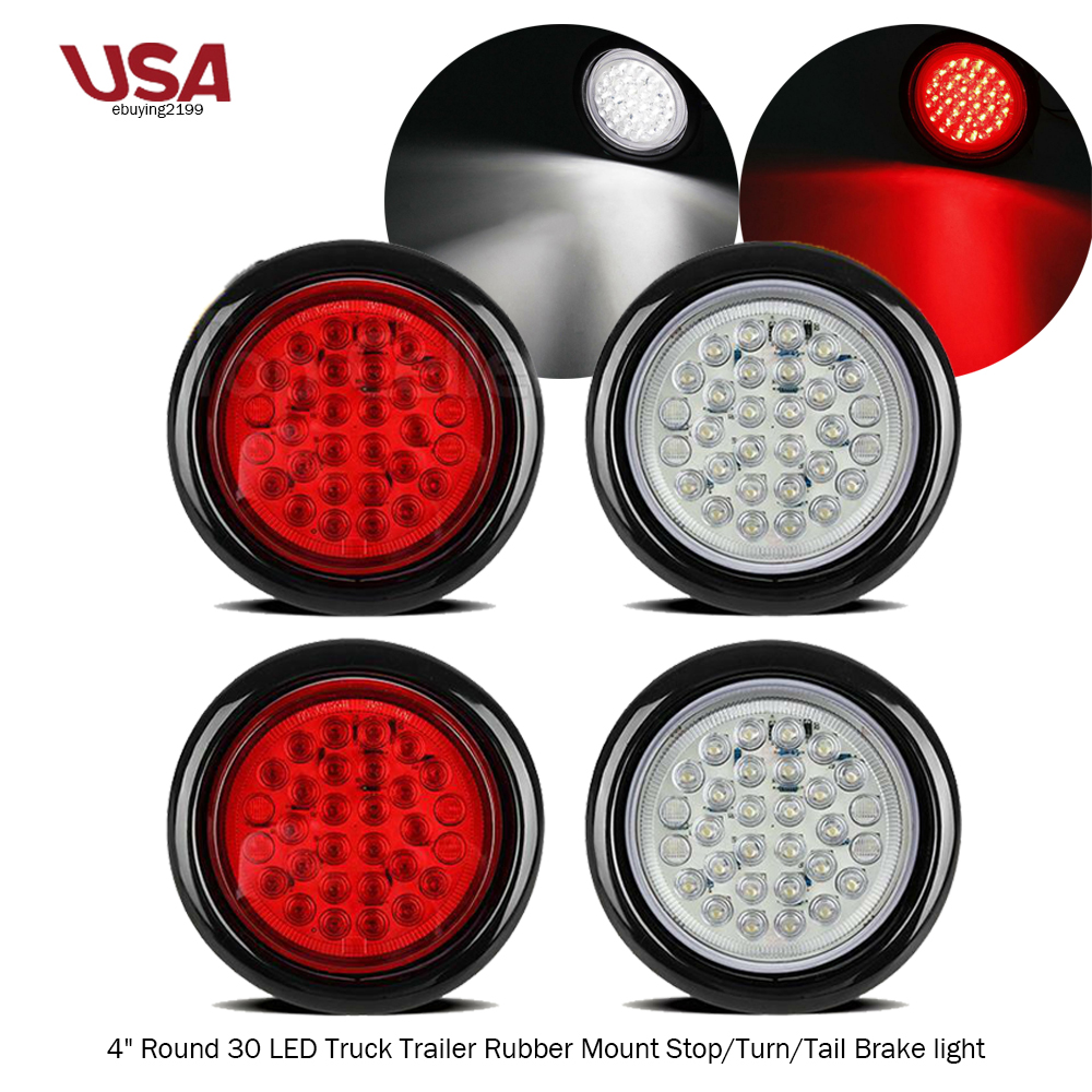 4 U0026quot  Inch 30 Led Round Stop Turn Tail Backup Truck Light 2