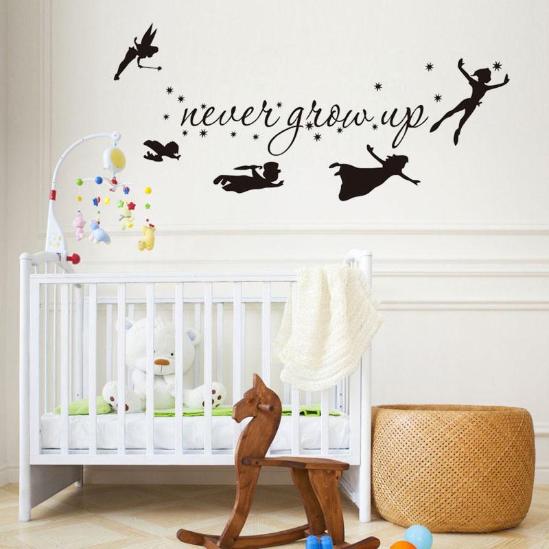Tinkerbell Star Peter Pan Wall Decal Kids Baby Bedroom Vinyl Sticker