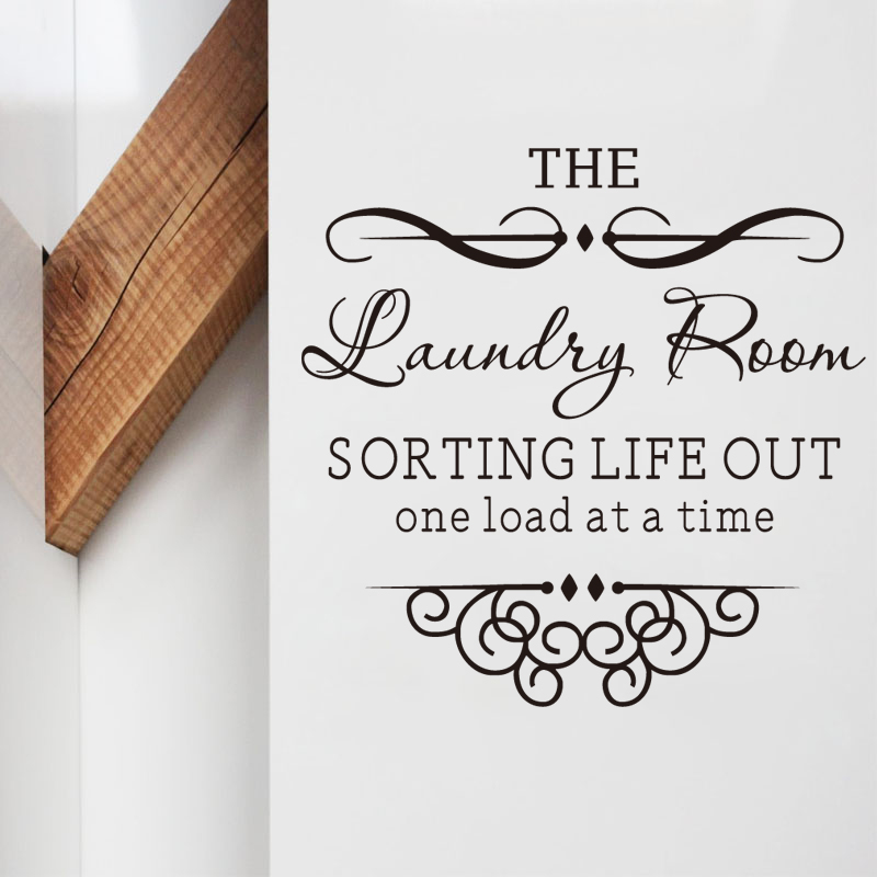 Laundry Room Sorting Life Out One Load At A Time Wall Decal Quote