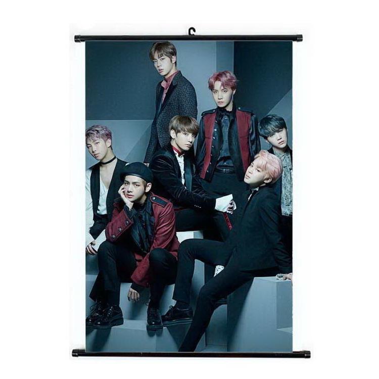 Kpop BTS Bangtan Boys Hanging Painting Art Painting Wall