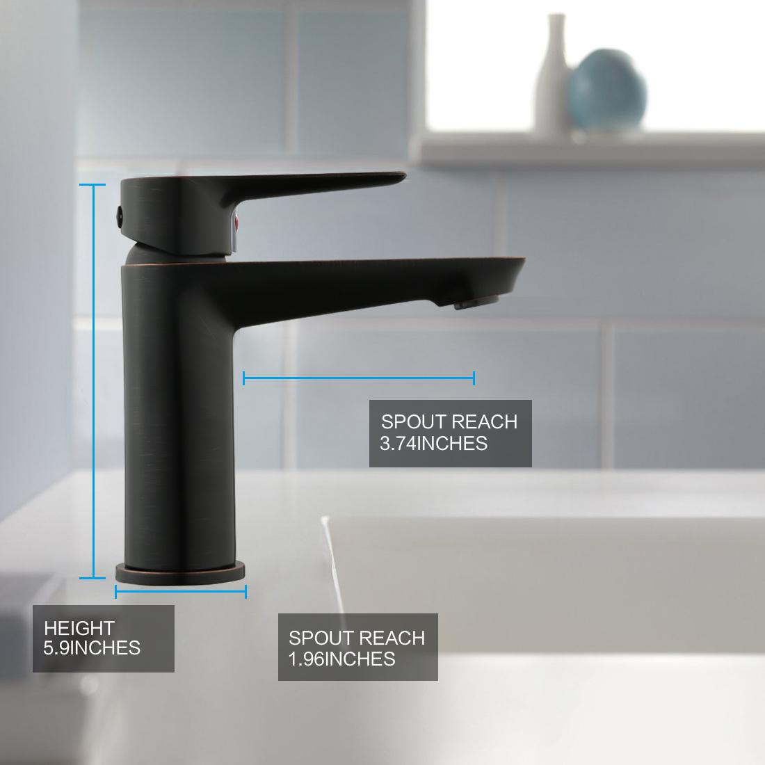 Keewi Bathroom Faucet Single Hole Lavatory Basin Sink Mixer Faucet ...