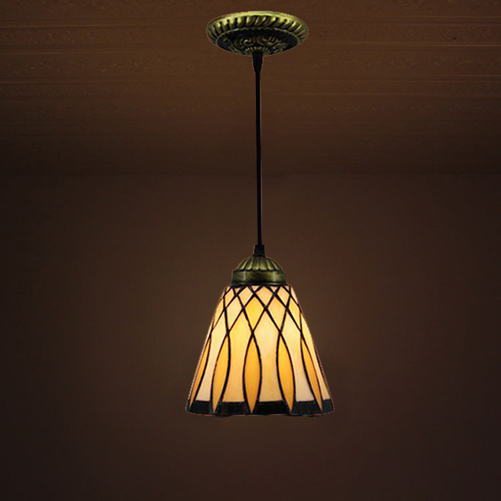 Details About Vintage Stained Gl Tiffany Style Pendant Light Ceiling Lamp Hanging Fixture