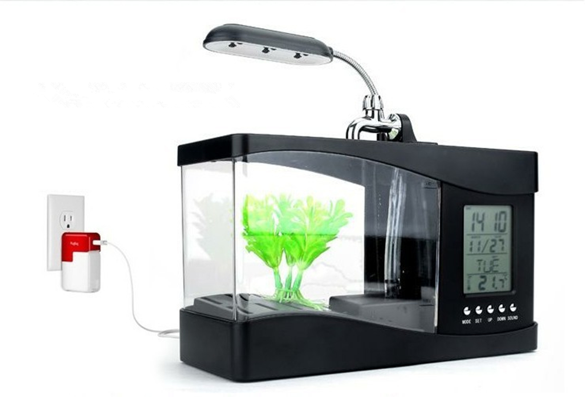 Fish tank light timer - Usb Desktop Mini Fish Tank Aquarium Multifunction Lcd