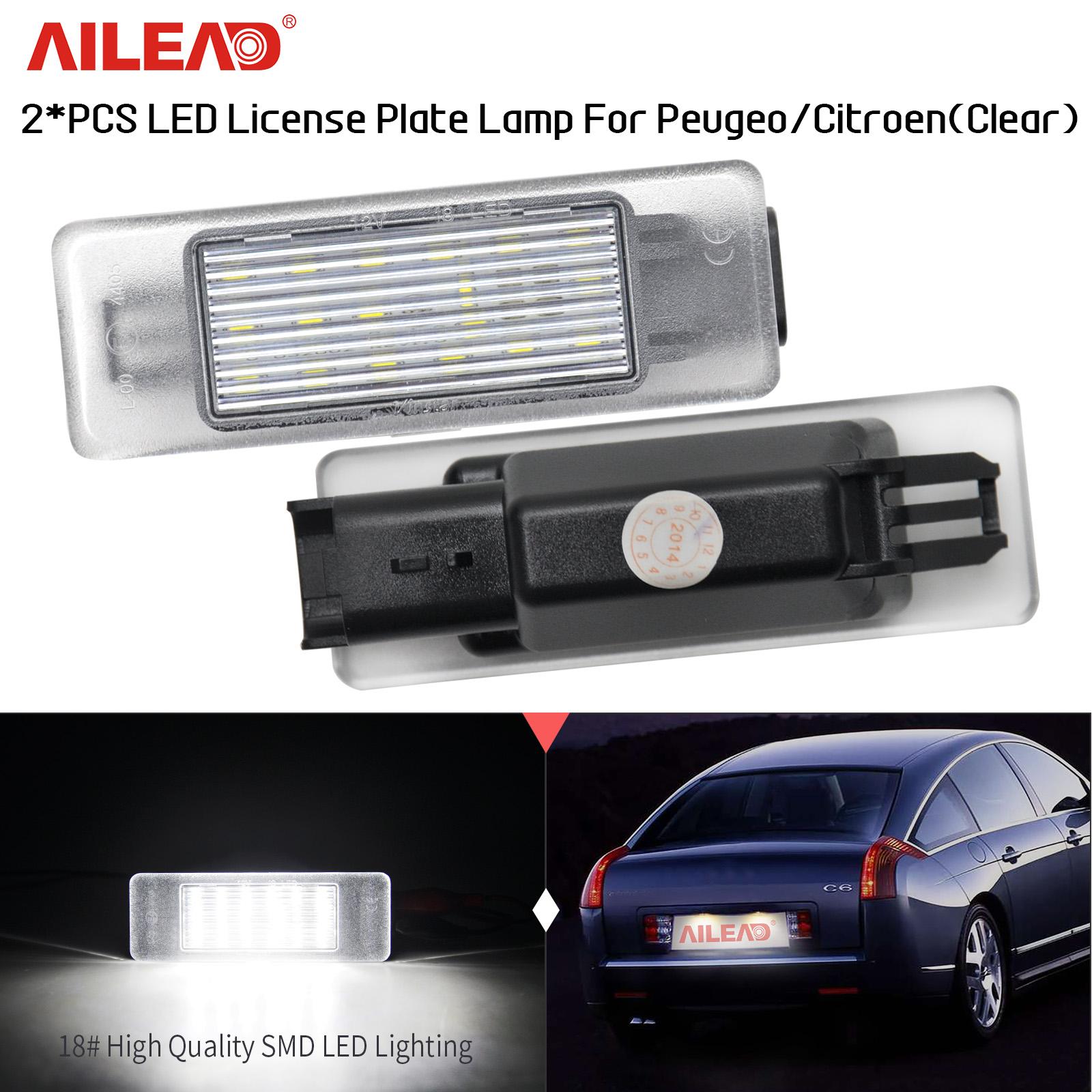 Details About 2 Rear Led License Number Plate Lamp For Peugeot Citroen Hatchback Crossover