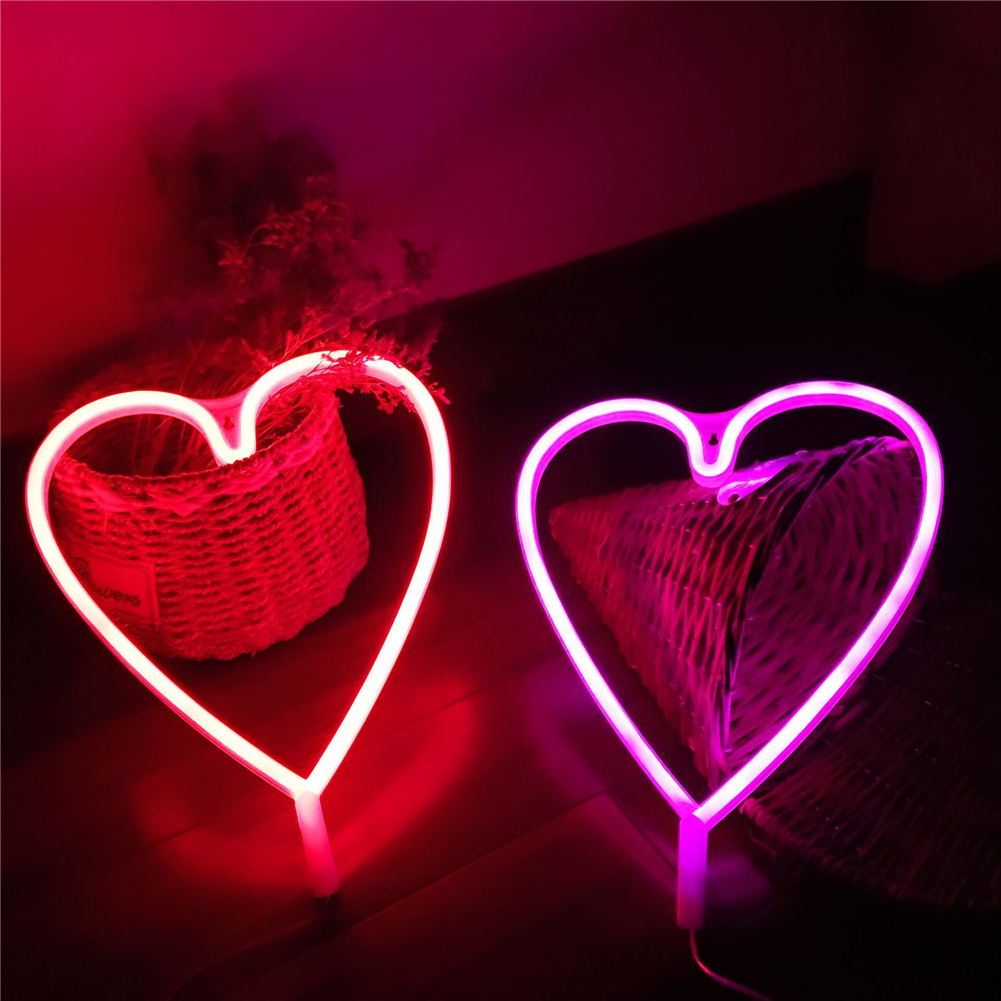 Details about LED Neon Sign Light Love Heart Wall Word Poster Background  Christmas Decor