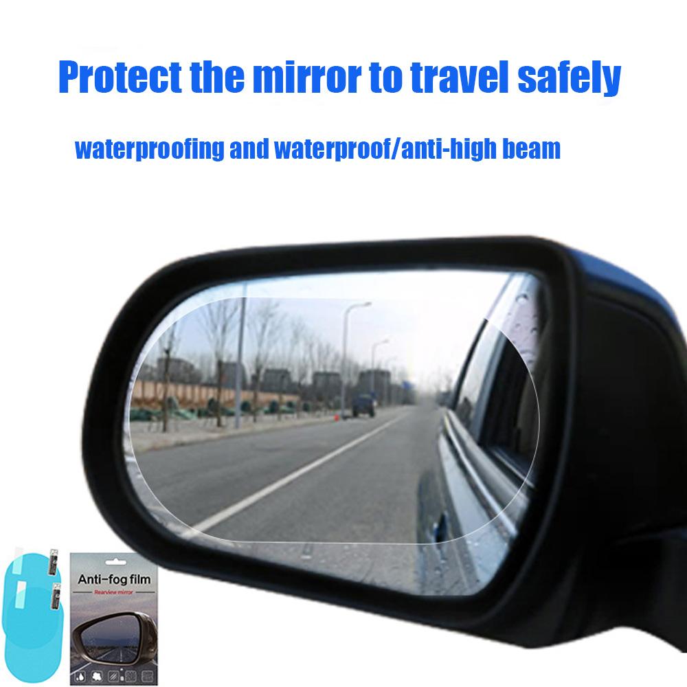 2x Car Anti Fog Coating Film Rear View Mirror Protective