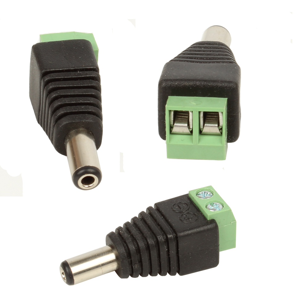 5 pairs male female dc power jack plug adapter connector cctv led ebay. Black Bedroom Furniture Sets. Home Design Ideas