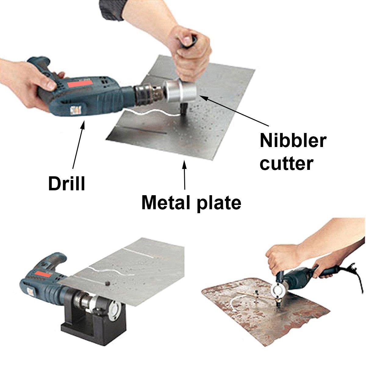Double Head Sheet Metal Nibbler Saw Cutter Cutting Tool