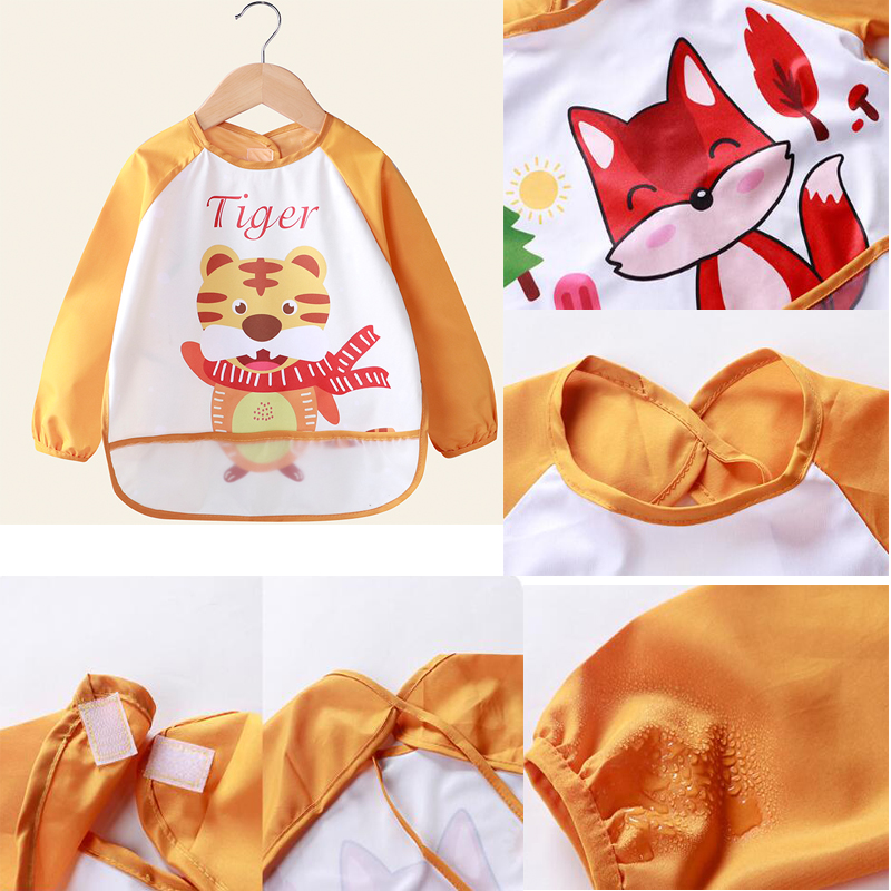 2x Lätzchen für Babys in rosa wasserdicht und abwaschbar mit Klettverschluss