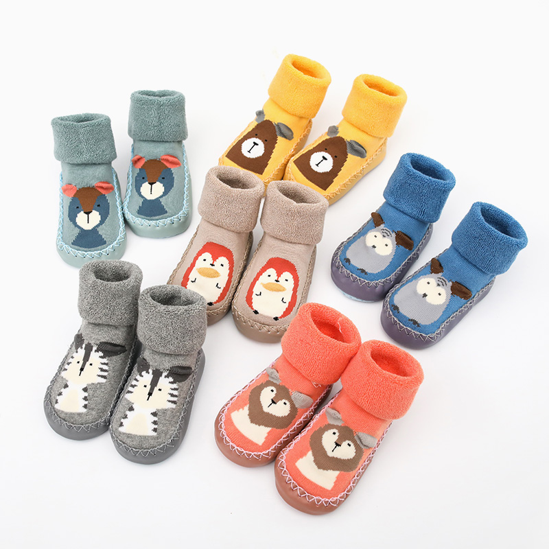 Baby Girls Boys Anti-slip Socks Cartoon Newborn Slipper Shoes Boots Months Lizzj