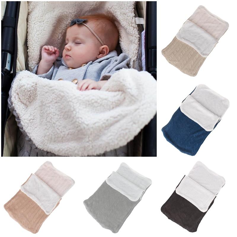 kleinkind wickel kinderwagen dick sack baby wickel stricken schlafsack decke