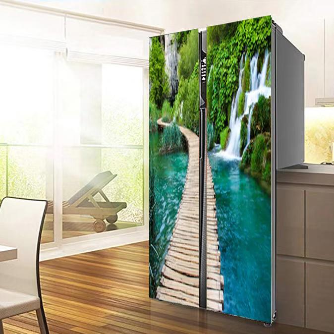 AU 3D Sticker Decor Door Wall Fridge Decals Self Adhesive Mural Scenery Seaside