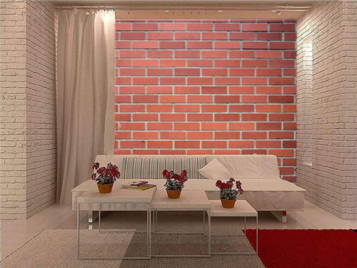 Details about 3D Vintage Red Brick Wall TV Background Wallpaper Bedroom  Wall Mural Photo Decor
