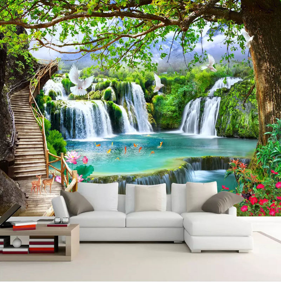 Nature Tree Building Chinese Garden Wall Mural Photo Wallpaper GIANT WALL DECOR