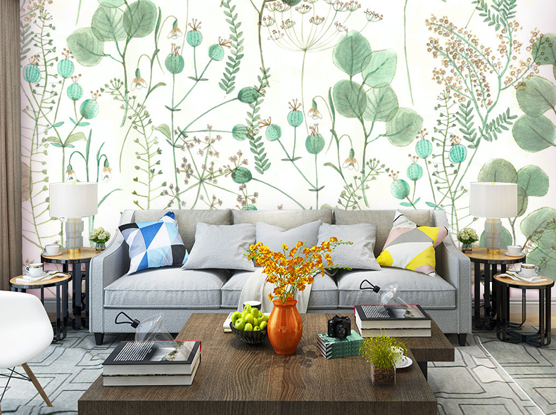 Details About 3d Tropical Leaves Plant Self Adhesive Bedroom Wallpaper Wall Murals Photo Decor