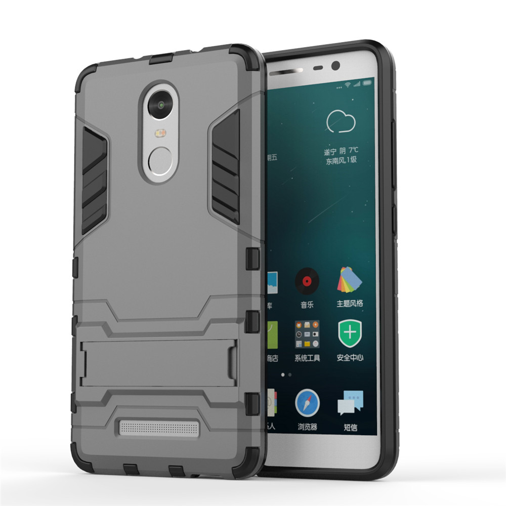 ... Shockproof Rugged Hard Armor Hybrid Stand Case Cover For Xiaomi Redmi Note 4 4X