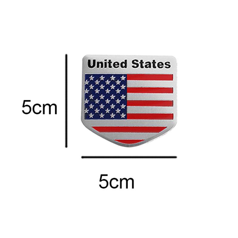 Car Door//Fenders//Tailgate 100/%Metal American Flag Shield USA Logo Sticker Badge