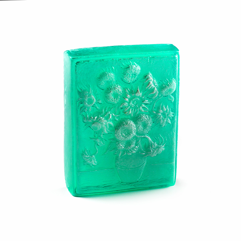 Silicone Soap Mold Van Gogh Sunflower Pattern DIY Tools Chocolate Fondant Mould