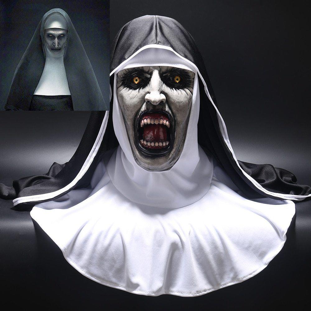 Hot Halloween Mascara De Terror La Monja Cosplay Valak Miedo