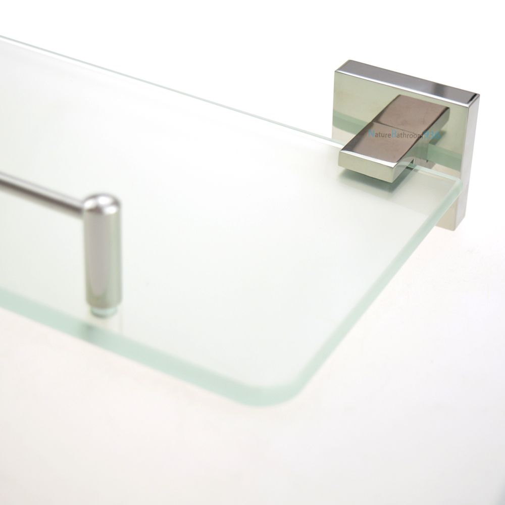 Square Glass Shelf Vanity Bathroom Accessories Storage 304 Stainless ...