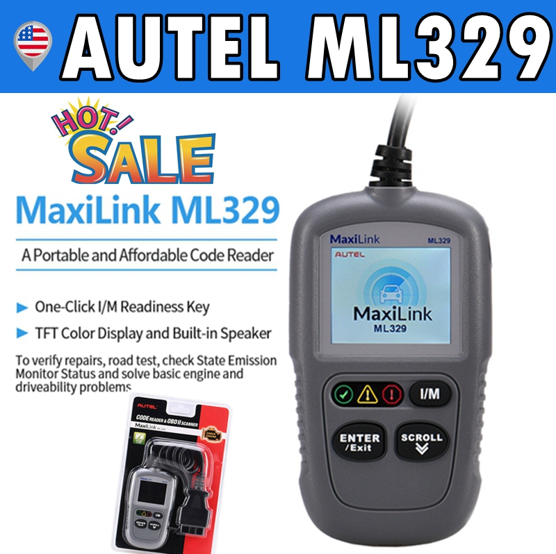 Autel ML329 Auto Code Reader OBD2 EOBD OBD Car Diagnostic Scan Tool Engine Check