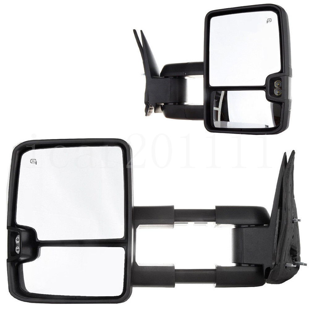 For 03-06 Silverado Sierra Power Tow Mirror Set Heated w/Smoked ...