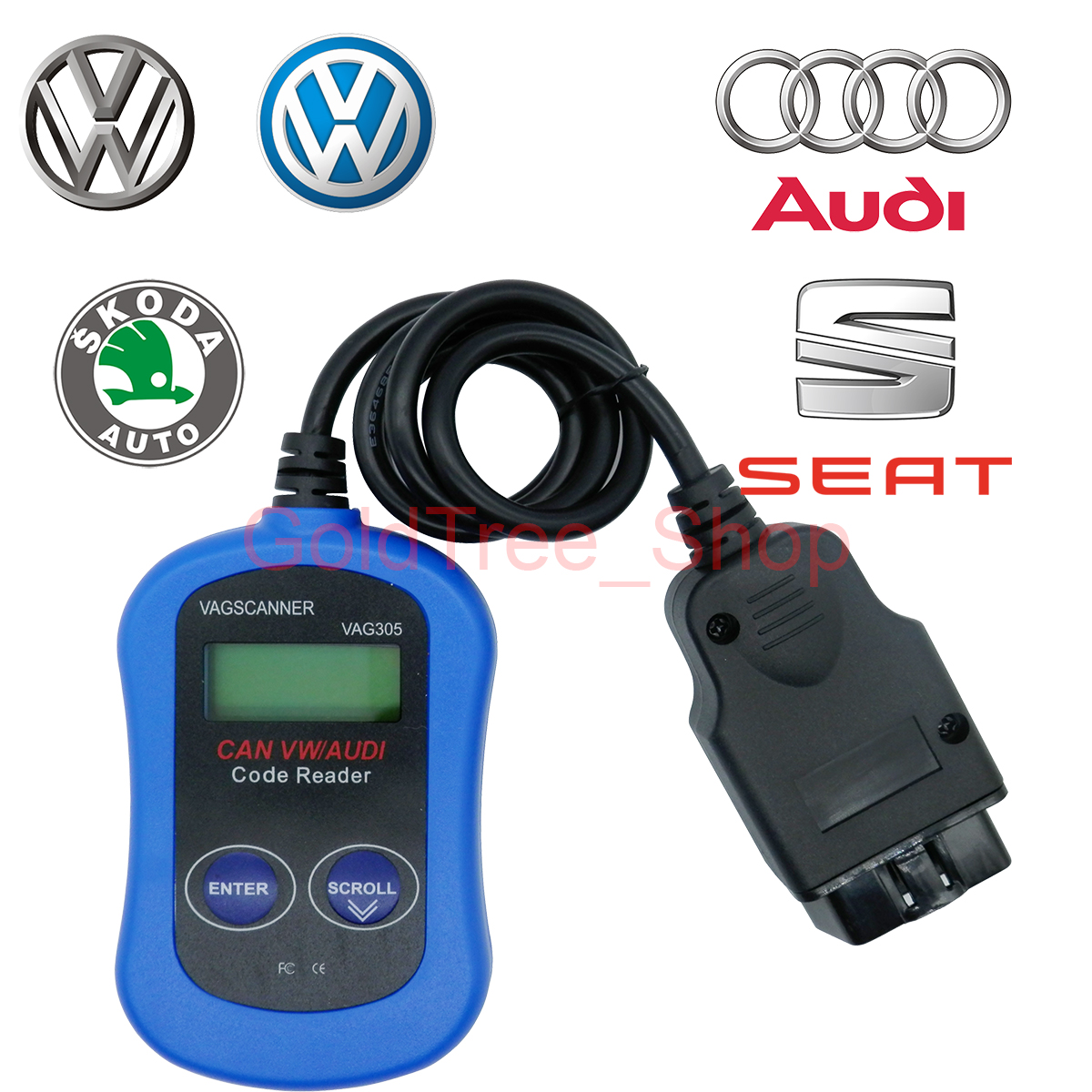 Vag305 Code Reader Auto Can Obd Obdii Scanner Diagnostic Scan Tool Vw Wiring For Audi