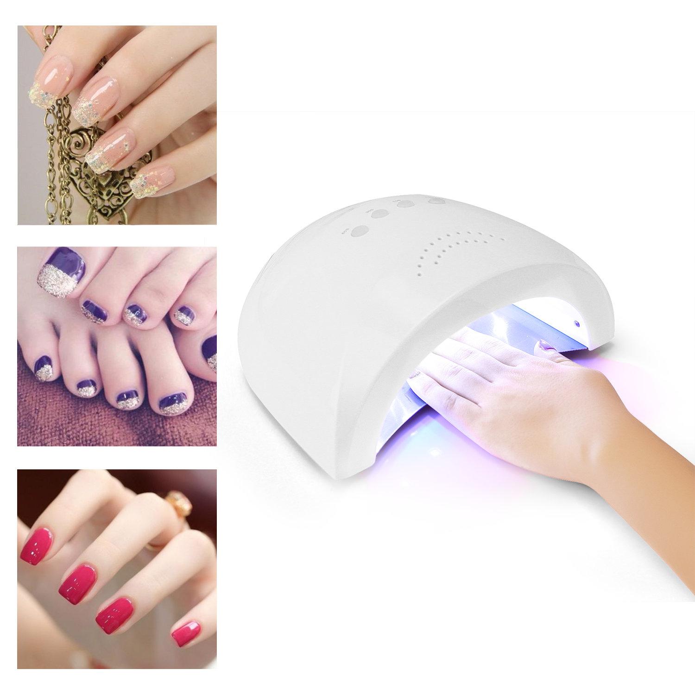 Nagel Gel LED UV Lampe 24W-48W Sicher Einstellung Timer Licht ...