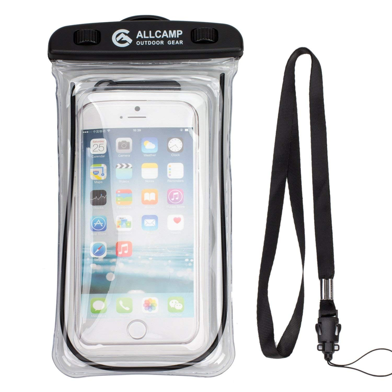 sports shoes 95d6f dac3d Details about ALLCAMP Universal Waterproof Underwater Phone Case Dry Bag  Pouch For Smartphones