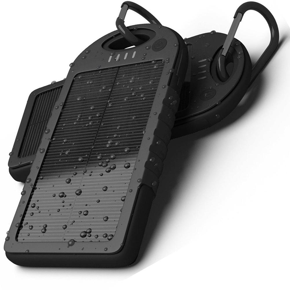 Waterproof 5000mAh Portable Solar Power Bank Battery ...