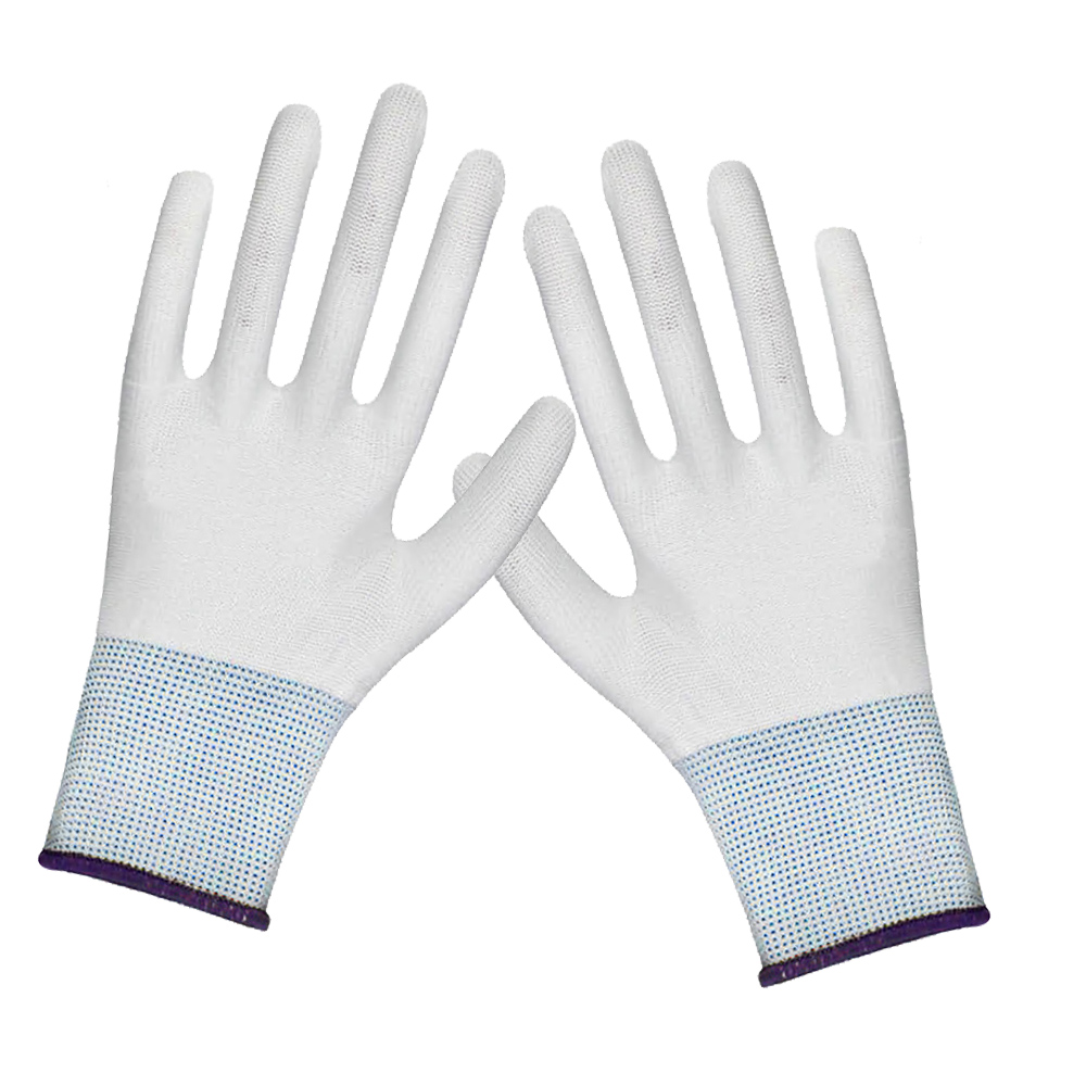 1Pair White Nylon Wrapping Gloves Application Tools Wrap Vinyl Cleanroom WorK