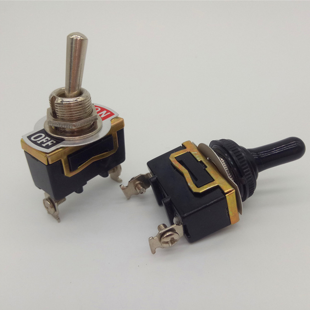 12V ON//OFF Small SPST Toggle Switch Miniature With Waterproof Cover Heavy Duty