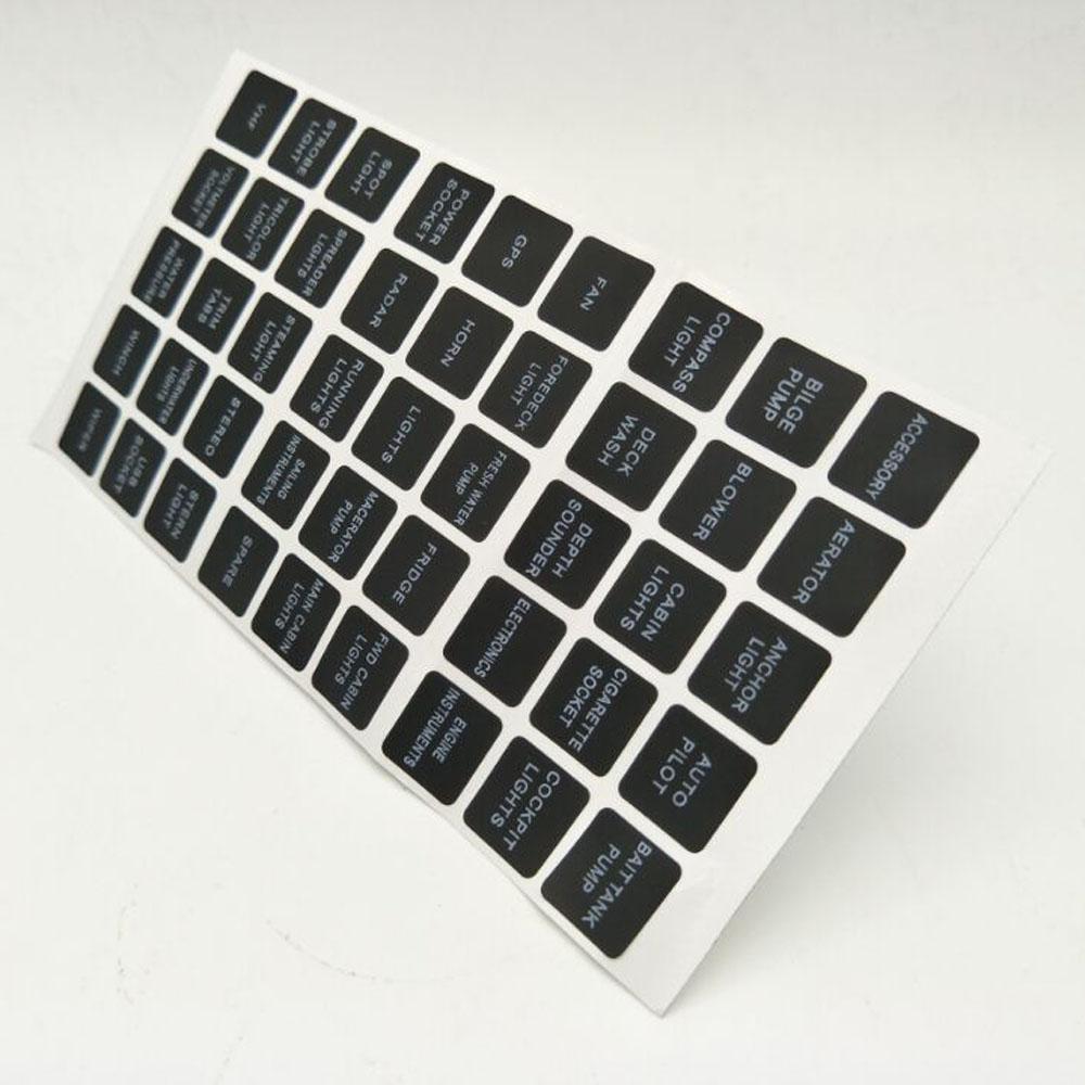 45x Rocker Switch Label Decal Circuit Fuse Panel Sticker Marine Boat International 4900 Box Instrument