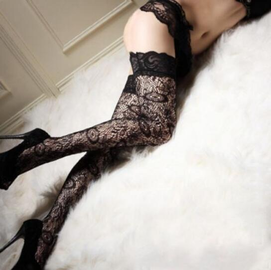 de0c02e2643 Details about Sexy Womens ladies Black Sheer Lace Top Thigh High Stockings  Hosiery UK Stock