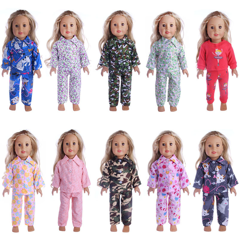 "Authentic 18/"" AMERICAN GIRL DOLL LEA/'S PAJAMAS PJs CLOTHES OUTFIT NEW Lea"