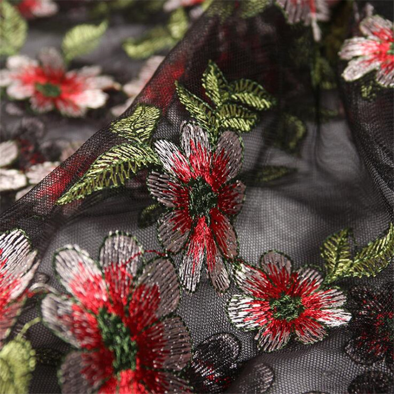 1//3//5M Embroidery Tulle Lace Fabric Mesh DIY Wedding Bridal Dress 53/'/' 3 Colours