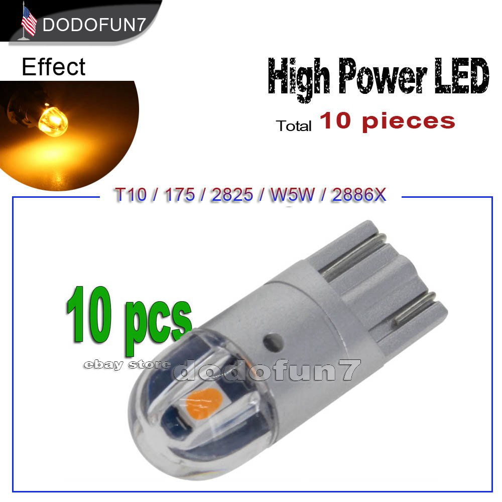 500x T10 194 259 147 5SMD 2825 LED Lights Car Trailer License Plate White Bulbs
