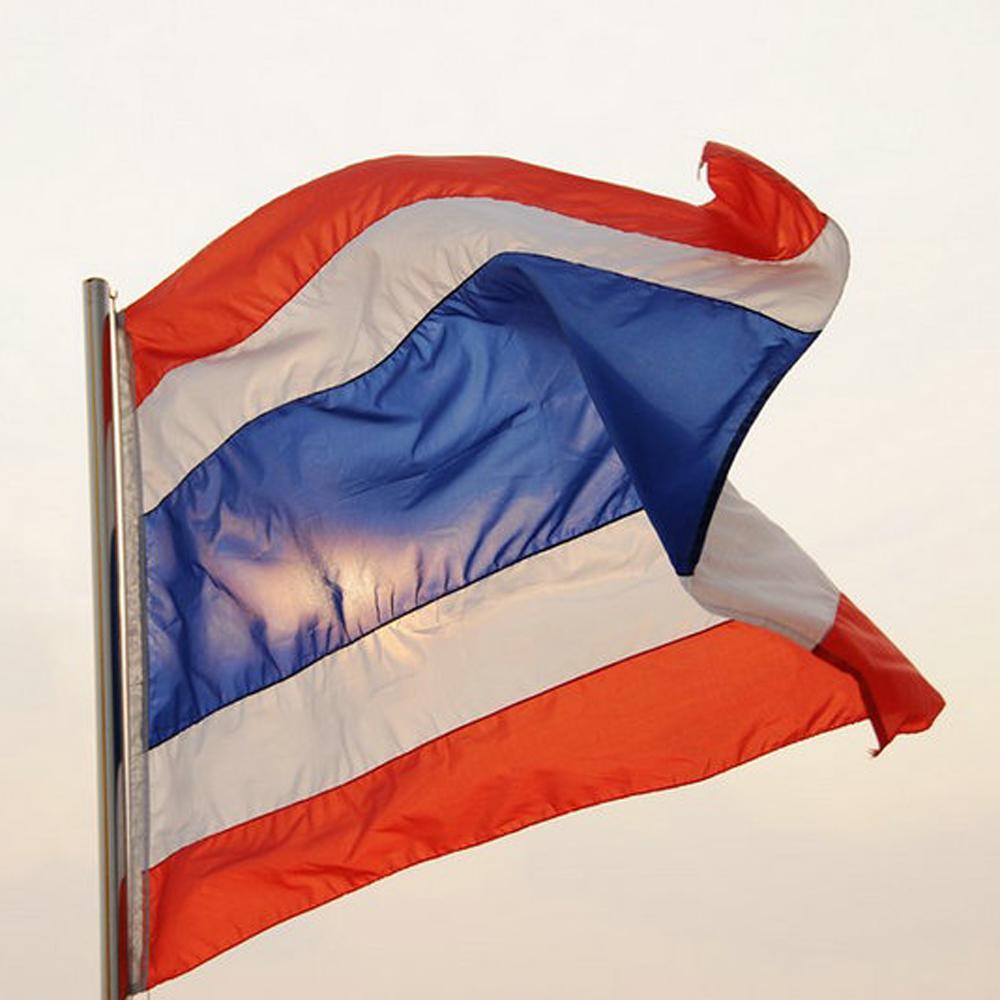 Thailan Flag ราชอาณาจักรไทย Flag 3x5 FT Polyester Flag Kingdom of Thailand