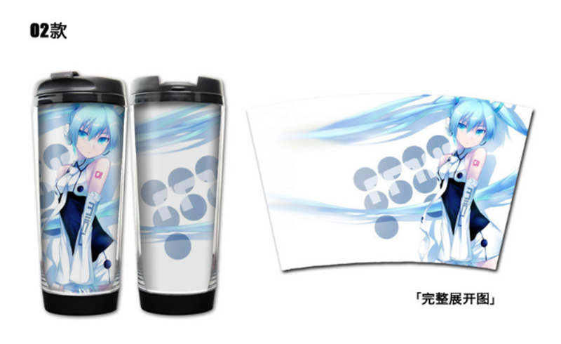 Anime Hatsune Miku Stainless Steel Water bottles Portable Insulated Cups Gift