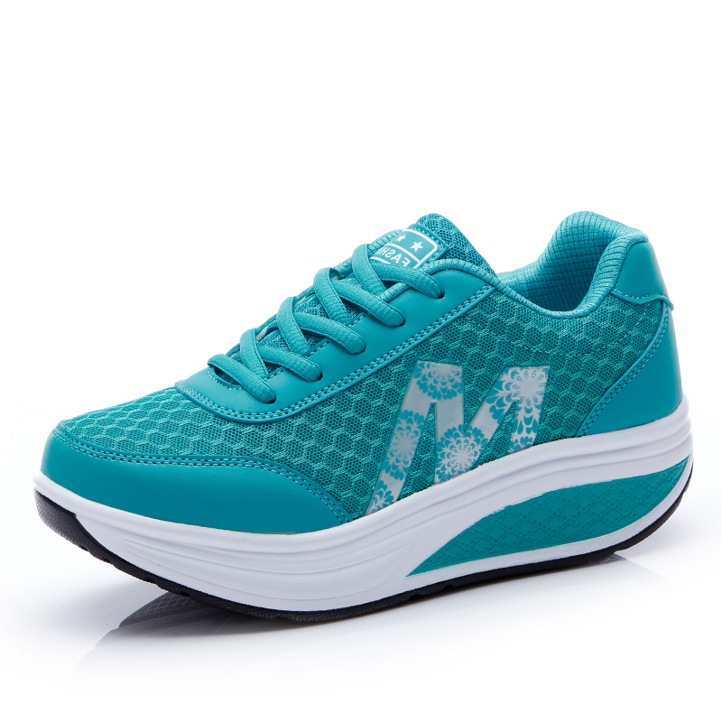 Women Sneakers Shake shoes Athletic Mesh Breathable Platform Sport Casual Shoes