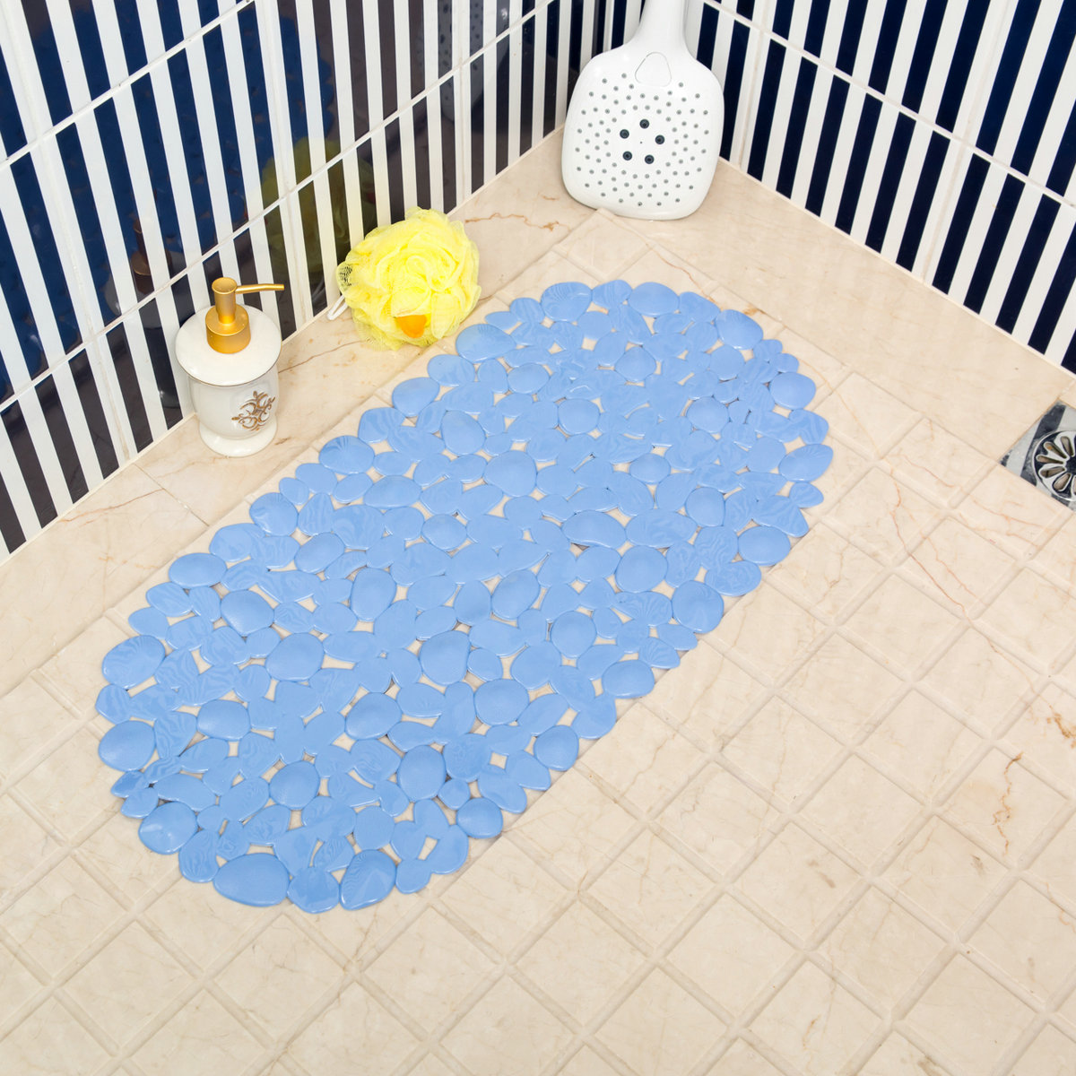 Shower Mats Pebbles Bathroom Bathtub Safety mat Non Slip Rubber ...