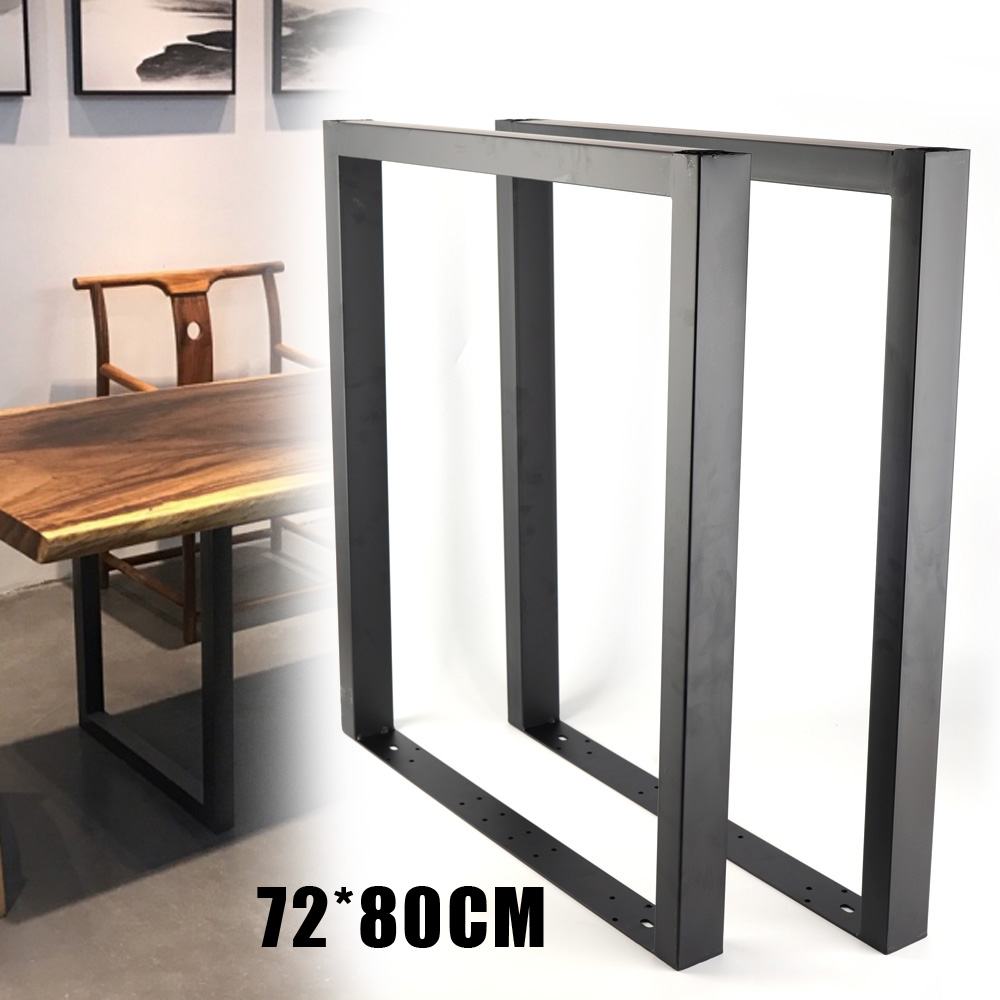 Details About 2pcs U Shape Table Legs 72x80cm Stainless Metal For Dining Desk Heavy Duty