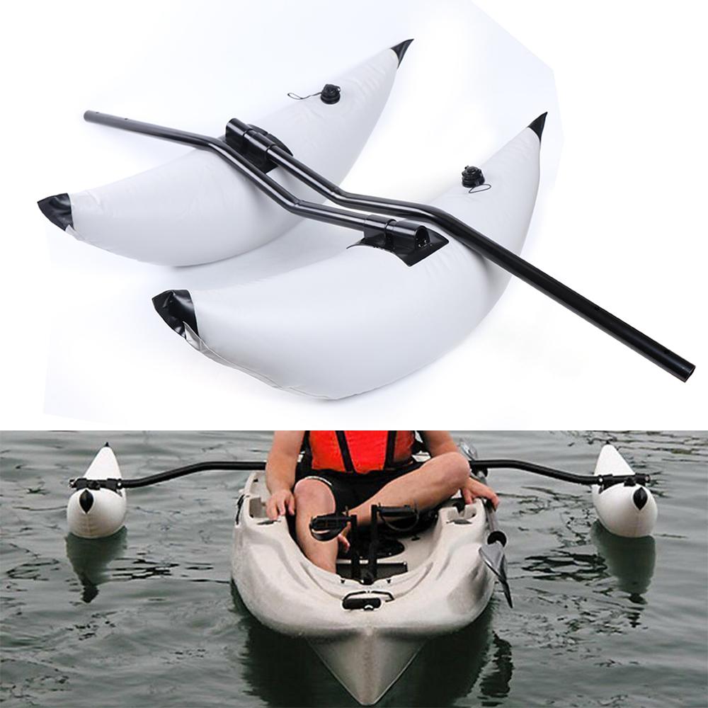 2 White PVC Kayak Canoe Boat Fishing Outrigger Stabilizer /& Sidekick Ama Kit