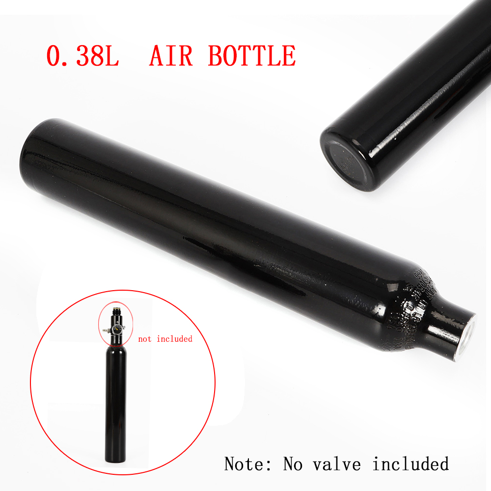 """3000 PSI Aluminum Tank Air Cyclinder Bottle For Paintball PCP 0.38L 5//8/""""-18UNF"""