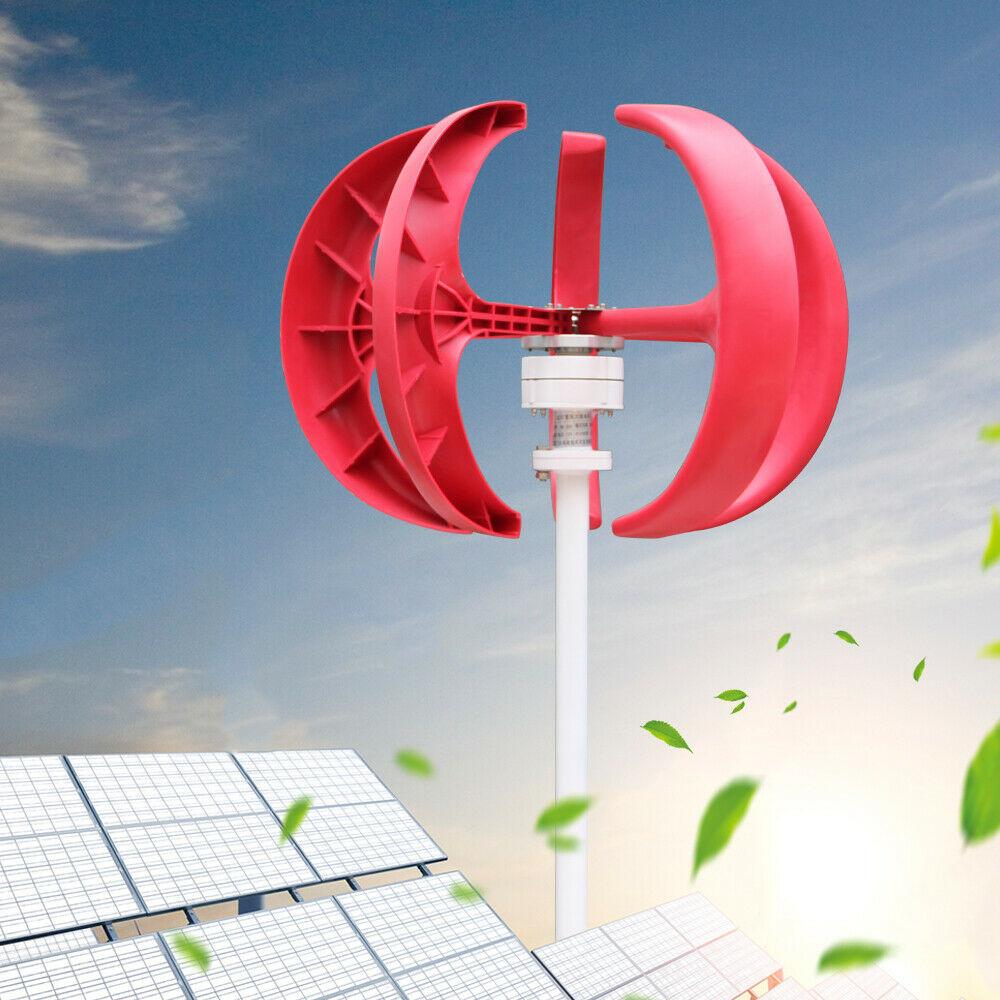Blanco Zoternen Generador de Viento 600W 12V Turbina E/ólica de 5 Palas de Bajo Ruido de Impermeable A Prueba de Arena de Baja Velocidad del Viento de Arranque