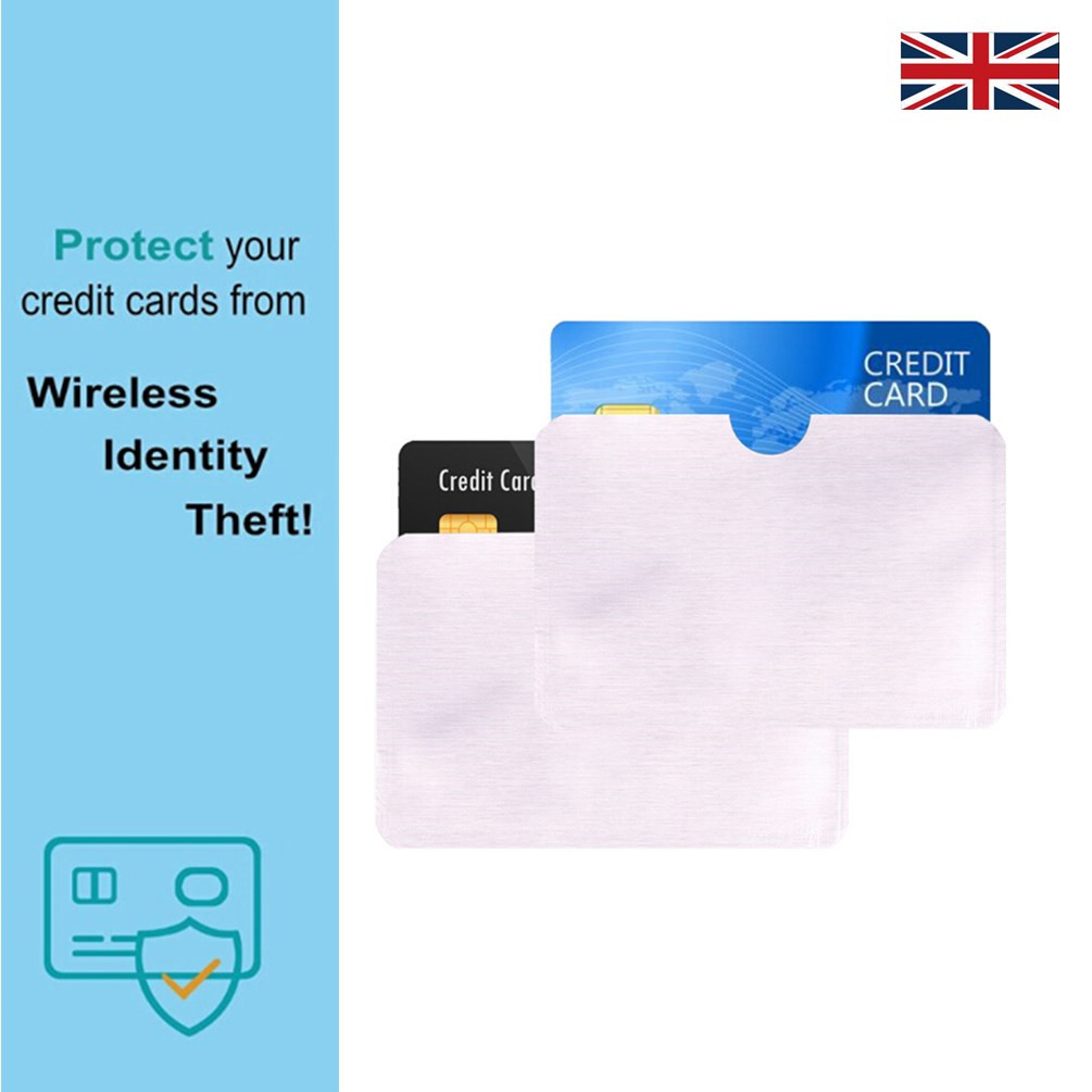 NEW 10 x Contactless Payment Credit Card Anti-Theft Shield Blocker RFID Blocking