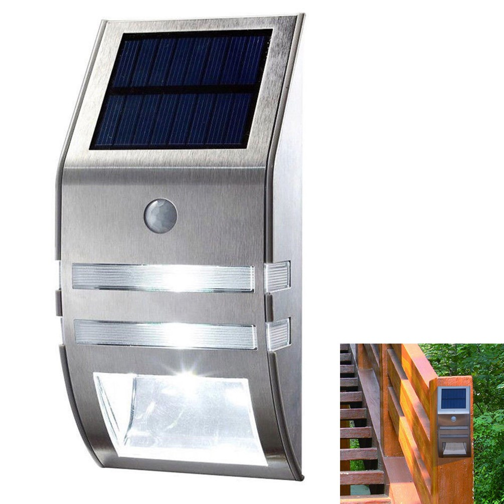 4pcs Solar Powered Pir Motion Sensor Garden Wall Fence Step Light Further Alarm Wiring Diagram Also You May Like Security Lamp
