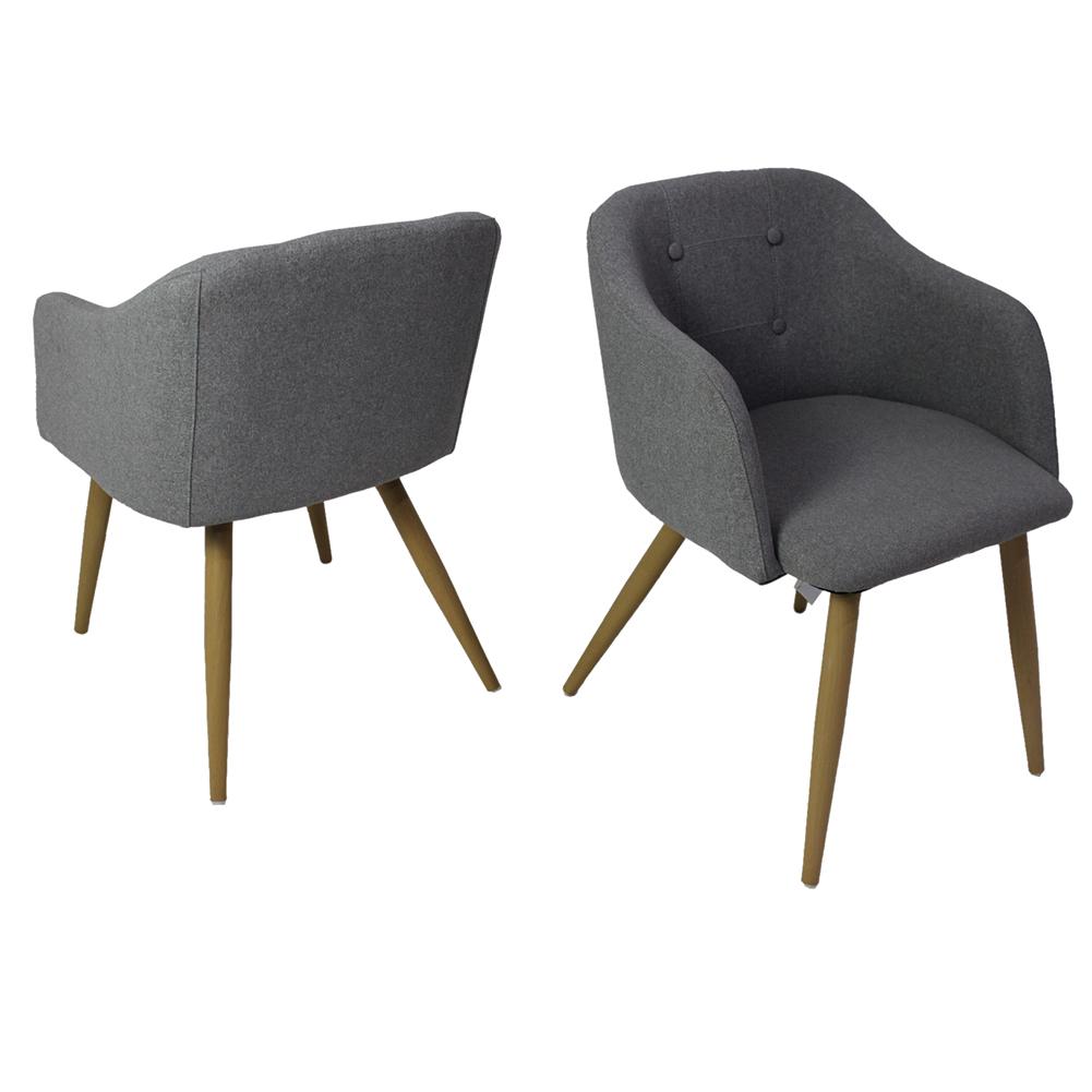 Sympathisch Esszimmerstühle Grau Mit Armlehne Beste Wahl 2x Esszimmerstühle Küchenstuhl Essgruppe Sitzgruppe Wohnzimmer
